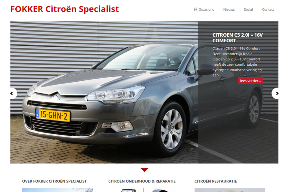Fokker spécialiste Citroën